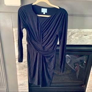 CeCe by Cecilia Steffe Black Long Sleeved Dress